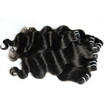 10-28 inch Indian 100% TRUE VIRGIN Remy Human Hair Extensions Natural Wave #1B Weave (10