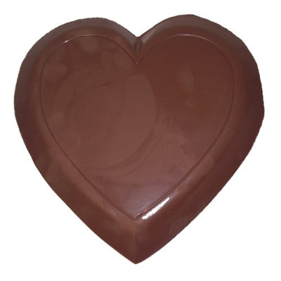 Lang's Chocolates Solid 3lb Dark Chocolate Heart. Measures 12 inches across