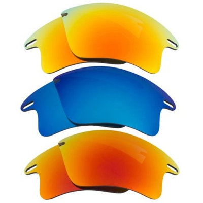 Best SEEK Replacement Lenses for Oakley FAST JACKET XL Red Yellow Blue Mirror