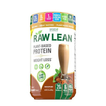 Wellnx Nature's Science Raw Lean Protein Powder, Chocolate, 1 Lb