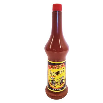 B & B B Picamas Red Hot sauce 7.5 oz - Salsa Roja picante (Pack of 18)