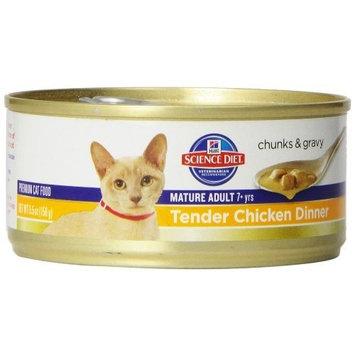 Hill's Science Diet Senior Wet Cat Food [Chicken, Adult 7+ Chunks & Gravy]