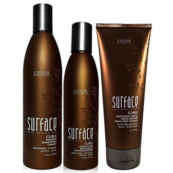 Surface Curls Trio: Shampoo, Conditioner, Smoothing Cream by SURFACE