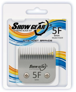 Show Gear #5F Clipper Blade 6mm Dog & Pet Grooming Professional in Silver