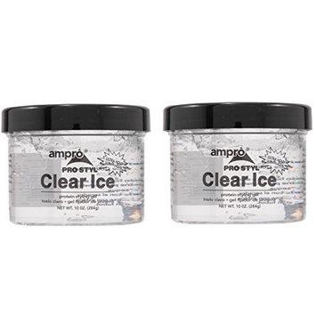 [ VALUE COMBO PACK ] AMPRO PRO STYL PROTEIN GEL CLEAR ICE 10oz/jar : Beauty