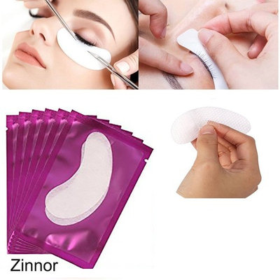 Zinnor 150 Pairs Set,Under Eye Gel Pads,Professional Lint Free Lash Extension Eye Gel Patches for DIY Eyelash Extension Eye Mask Makeup Beauty Tool 3 Colors (Purple paste grid film)
