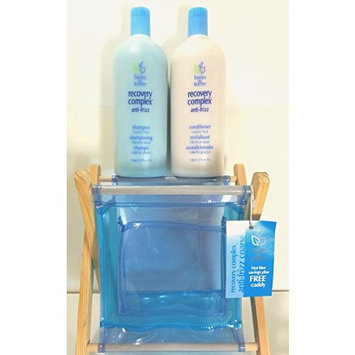 Bain de Terre Recovery Complex Anti-Frizz Shampoo and Conditioner Course Hair Duo Deal 33.8 Oz Each, Plus a Free Storage Caddy!