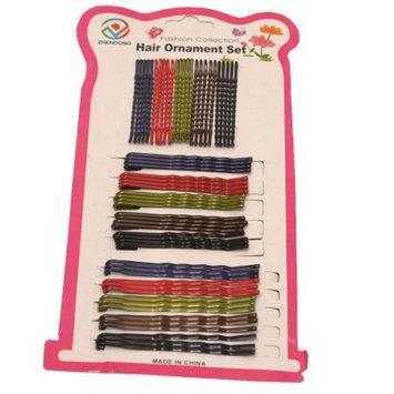 Zhendong Girls Multi Color Narrow Hairgrip Hair Styling Ornament Set