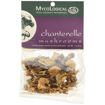 Mycological Dried Chanterelle Mushrooms, 1 Ounce Packages