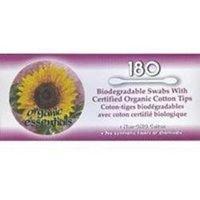 Organic Essentials Biodegradable Cotton Swab - 180 per pack -- 6 packs per case. by Organic Essentials