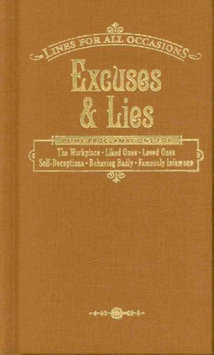 Gift Item Excuses & Lies Gift Book