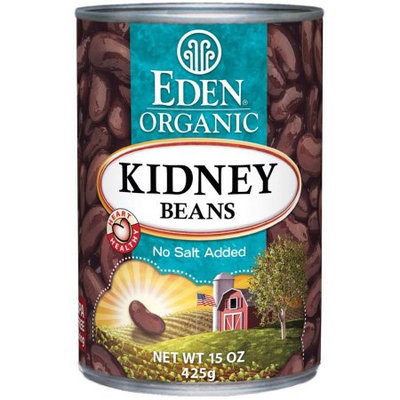 Eden Organic Eden Kidney (dark red) Beans, Organic, 15 Ounce (Pack of 6)