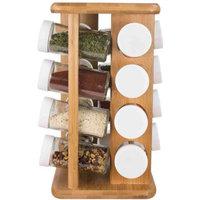 Home Basics Revolving Spice Rack - Bamboo - 16 Piece