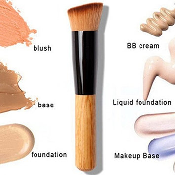 1 Piece Wooden Makeup Brushes Set Powder Concealer Cosmetics Make Up Tool Foundation Natural Beauty Palette Eyeshadow Pleasure Popular Eyes Faced Colorful Rainbow Hair Highlights Glitter Travel Kit