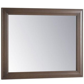 Home Decorators Collection Annakin 31 in. W x 26 in. H Wall Mirror in Flagstone