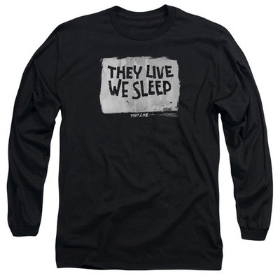 THEY LIVE/WE SLEEP - L/S ADULT 18/1 - BLACK - XL