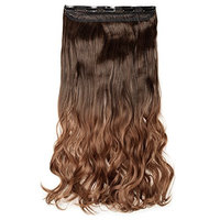 Ombre Clips in on Synthetic Hair Extensions One Piece 23