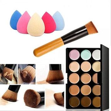 Palette Concealer Contour Makeup Cream Face 15 Colors Sponge Puff Powder Brush Set Homey Delight