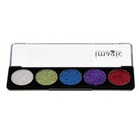 Baoblaze Pressed Glitter Eyeshadow Palette 5 Colors Pigmented Long-Lating Shimmer Powder Eye Shadow Pallet Waterproof Makeup Kit - #03