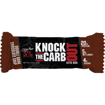 Rich Piana 5% Nutrition KTCO Keto Bar Double Dark Chocolate Chip Flavor (10 Count), 20g Protein 68g Serving Size