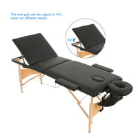 Abody 3 Fold Portable Massage Table 84''L Facial SPA Therapy Massage Bed for Tattoo Beauty Salon Device
