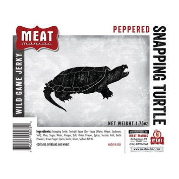 Meat Maniac Exotic Game Beef Jerky (Peppered Snapping Turtle Jerky 1.75oz)