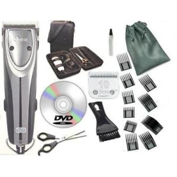 Oster 2-Speed Outlaw Animal Clipper + Case,DVD,Shears+ #10 + A5 blades+ 10 pcs Comb Set