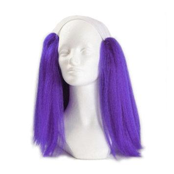 Bald Straight Clown Wig - Purple