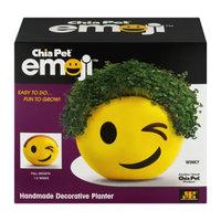 Chia Emoji Winky Handmade Decorative Planter, Yellow