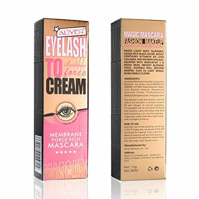 Women Mascara,Aliver 4D Silk Fiber Eyelash Mascara Extension Makeup Black Waterproof Kit Eye Lashes