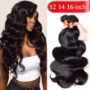 YOUFA Body Wave Bundles Weave Hair 100% Unprocessed Virgin Brazilian Human Hair 3 Bundles 16 18 20 Inch 8A Remy Hair Extensions Natural Color []