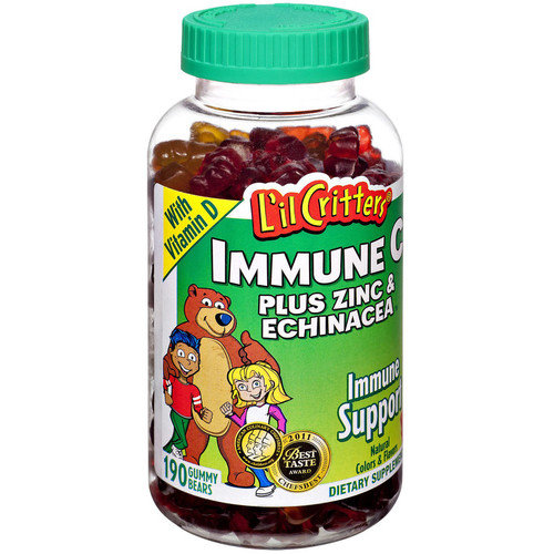 L'Il Critters Citrus Immune C+ Zinc Echninacea Chewables, 190 CT (Pack of 3)