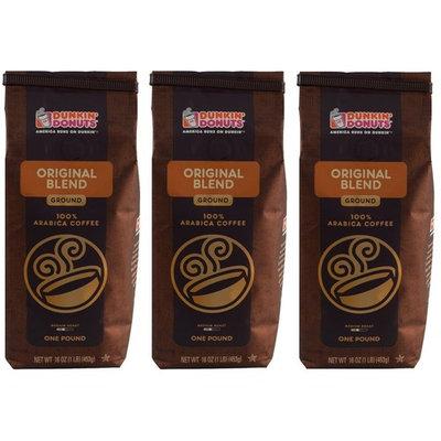 Dunkin' Donuts Ground Coffee (Three Pack, Original Blend)