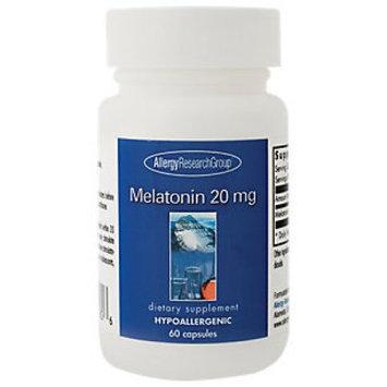 Allergy Research Group, Melatonin 20 mg 60 vegetarian capsules