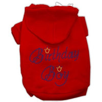 Mirage Pet Products 18-Inch Birthday Boy Hoodies, XX-Large, Red