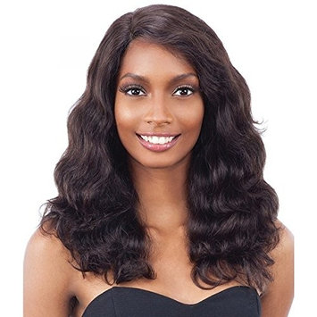 NAKED UNPROCESSED REMY HUMAN HAIR INVISLBLE L-PART LACE FRONT WIG - BODY WAVE