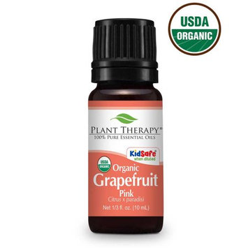 Plant Therapy Organic Grapefruit Pink Essential Oil 10 mL (1/3 fl. oz.) 100% Pure, Undiluted, Therapeutic Grade