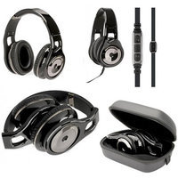 Scosche RH1056MD Reference On Ear Headphones (Black) with Inline Microphone