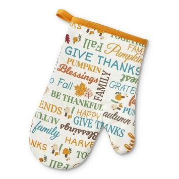 "Be Thankful 7"" x 10u0026#8221; Printed Oven Mitt - Verbiage"