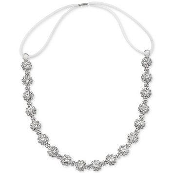 Badgley Mischka Silver-Tone Crystal Cluster Headband