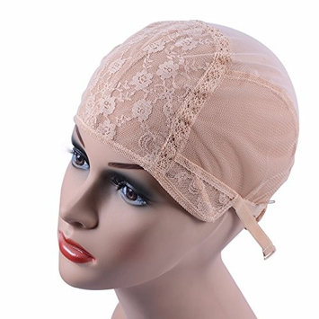 blonde Wig cap for making wigs with adjustable strap on the back