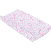 Miracle Blanket Stars Changing Pad Cover, Pink