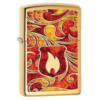 Zippo Choice Flame Fusion High Polish Brass 28975 Lighter