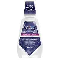 Crest 3D White Luxe Glamorous White Multi-Care Whitening Mouthwash Fresh Mint 32.0 fl oz(pack of 4)
