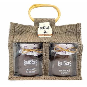 Mrs Bridges Chutney For Cheese Gift Bag, Farmhouse, British Chutneys 10.5 Ounce (Pack of 2)