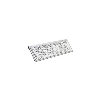 LogicKeyboard XLPrint PC Slim Line Keyboard with Large Print, Black on White