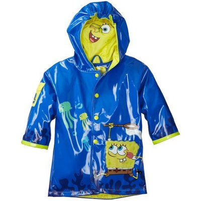 Kidorable Little Boys' Spongebob Squarepants All Weather Waterproof Coat, Blue