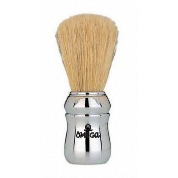 Marvy Omega Silver Handle Shaving Brush #4 by Marvy