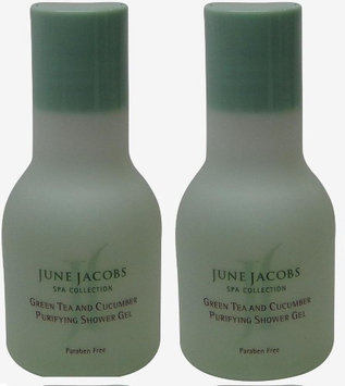 June Jacobs Green Tea Purifying Shower Gel Lot of 1.7oz. (Pack of 2)