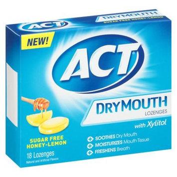 ACT Dry Mouth Lozenges Honey Lemon